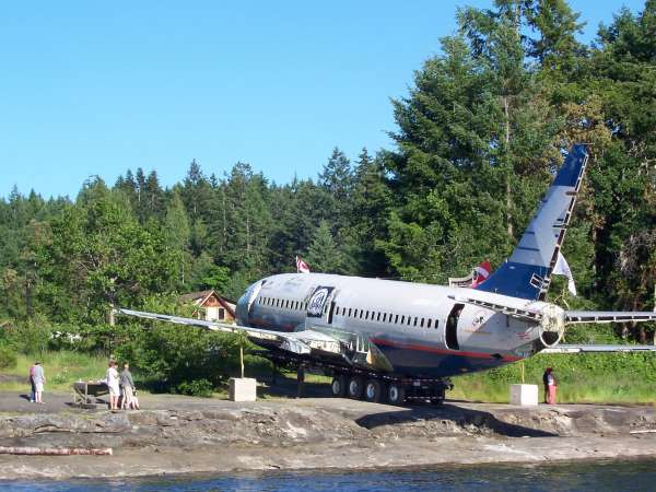 dive a 737 artificial reef near Chemainus BC Canada